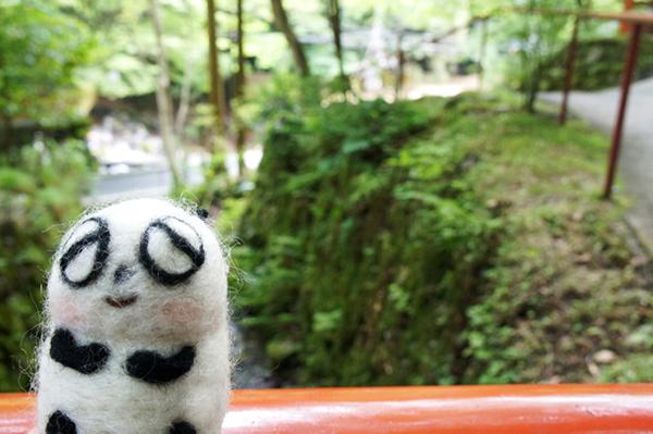 貴船神社とパンダ様。柔和なお顔