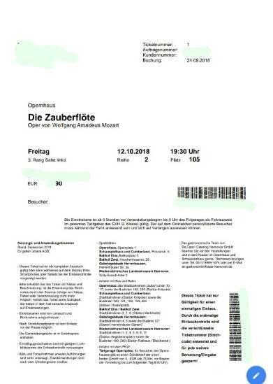 ドイツのオペラのオンラインチケット