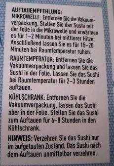 ドイツ寿司解凍法