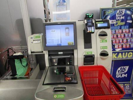 ドイツのスーパーの無人レジ