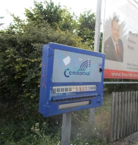 ドイツの路上コンドーム自販機