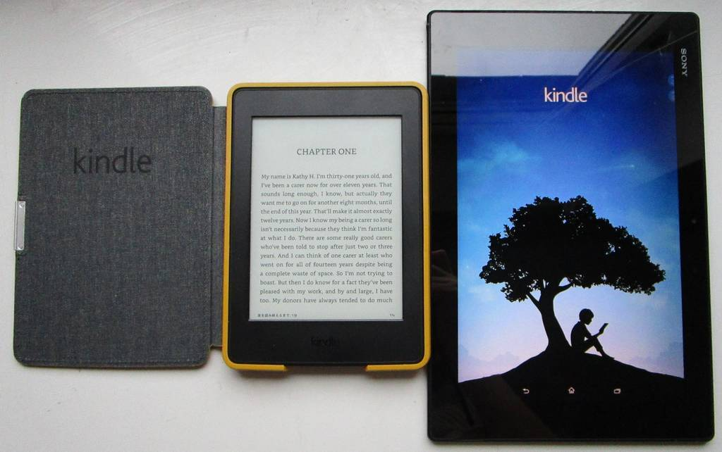 Kindle Paper Whiteとタブレット端末のKindleアプリ (SONY Xperia)
