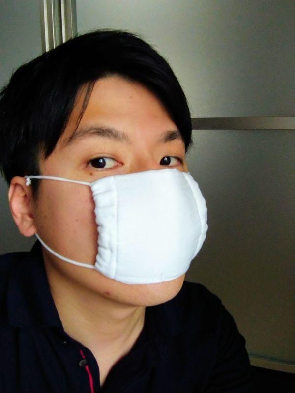 配布された布マスク