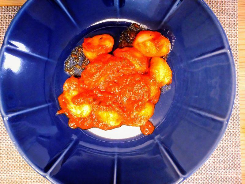 トマト&バジルソースのニョッキ
