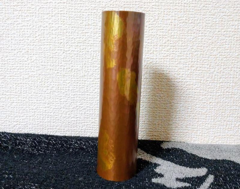 鎚起銅器の花瓶