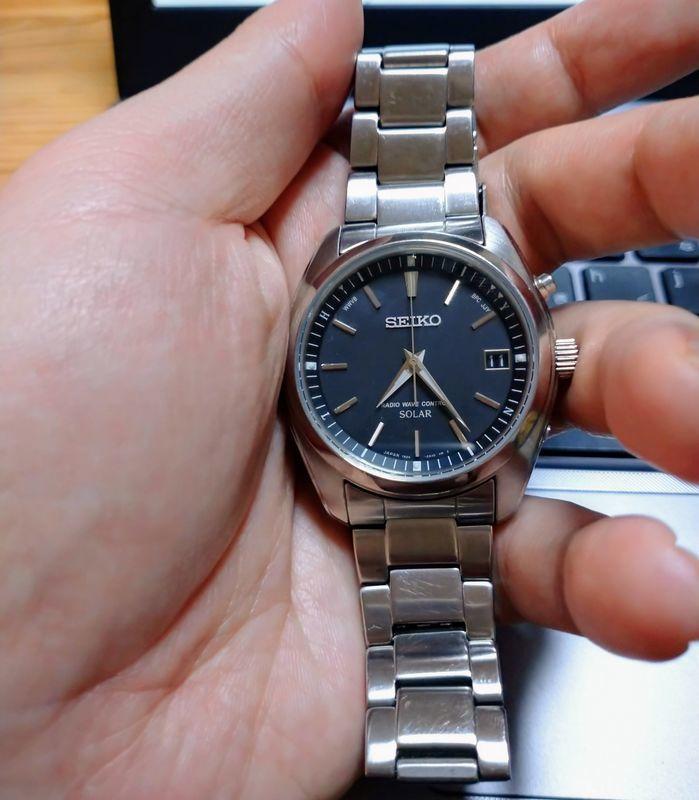 SEIKO 電波ソーラー腕時計