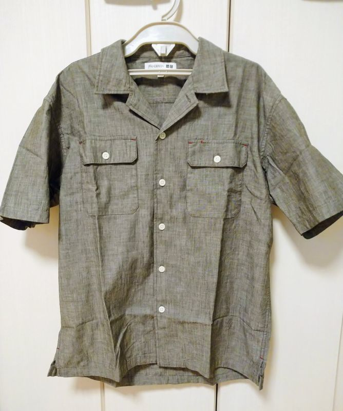 シャンブレーオーバーサイズワークシャツ