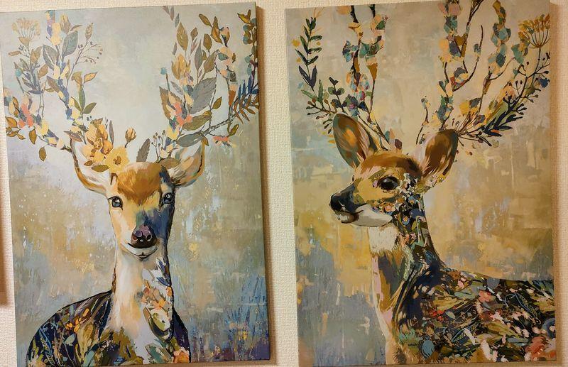 IKEAの鹿の絵