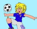 刺蜂さんの今日のお題は、サッカーをする星です!