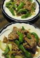 長唐と豚とタマネギオイスター炒め