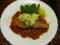 トマトソース鮭のソテーで茹でポテト