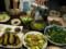 ズッキーニとベーコン炒め鱧湯引き他は野菜