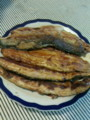秋刀魚ですかば焼き丼も酢の物も