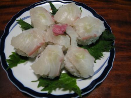てまり寿司桜ほんのり春のせて