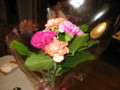おはぎの礼に花束もらっている機嫌