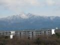 望遠ではるかの山の冬景色
