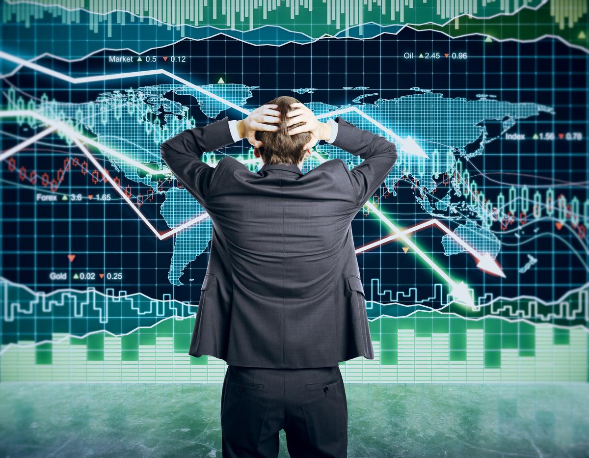 株式市場下落