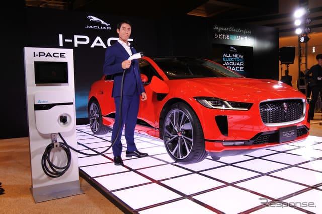 錦織選手「大坂選手のプレーにしびれた」…ジャガーの電気自動車 I-PACE 発表会で