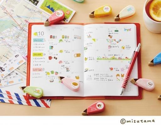 かわいいデコレーションテープで毎日使う手帳を華やかに!人気イラストレーターmizutama描き下ろしの商品が発売