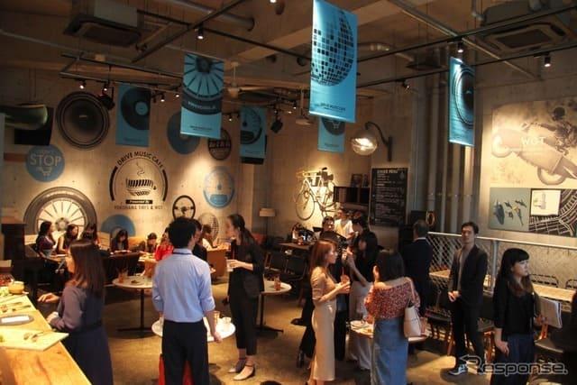 テーマは「音楽×ドライブ」、横浜ゴムが代官山にカフェを期間限定オープン