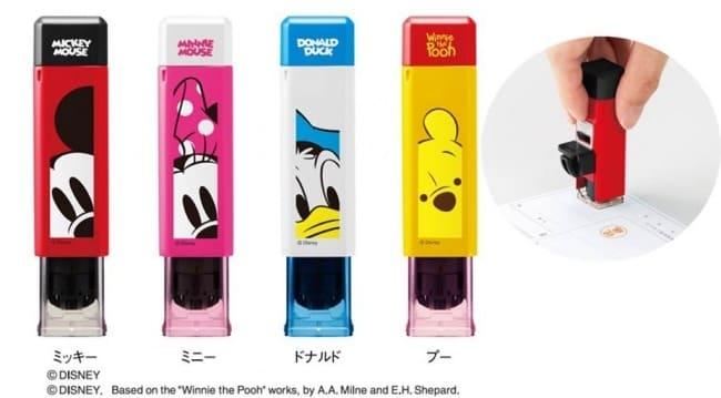 ワンタッチでキレイに捺印!ディズニーキャラクターがデザインされた印鑑ホルダー「ハンコ・ベンリ」