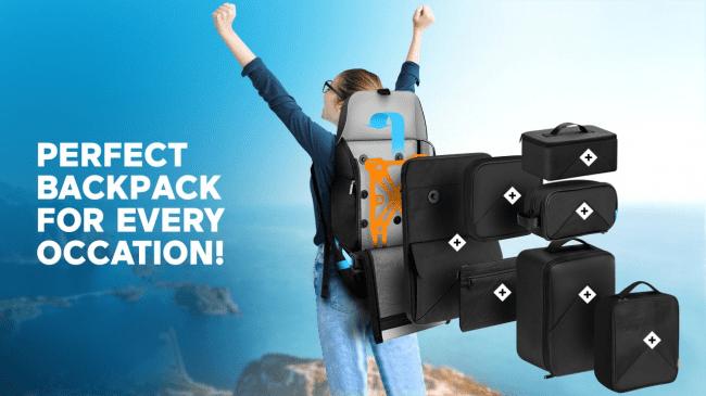 通勤や出張、旅行などシーンに合わせて変形するバックパック「Xpedition」が登場