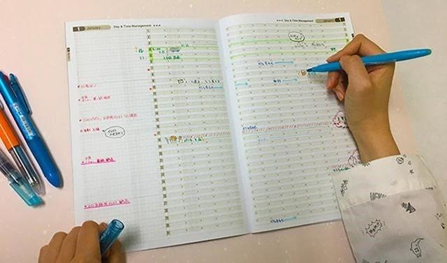 """ひと目で""""時間をマネジメント"""" 新タイプのスケジュール帳「たてヨコ日時管理Note」"""