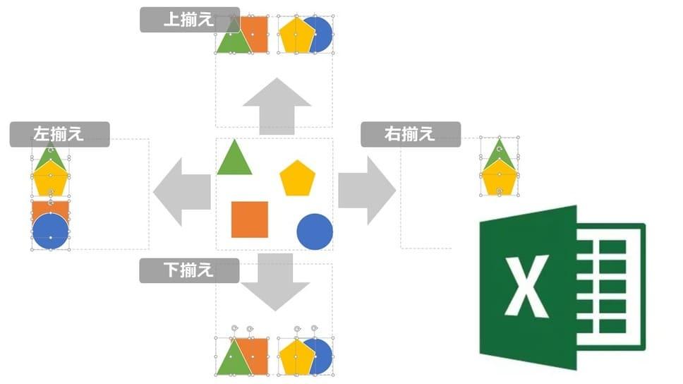 【Excel・パワポ】まだマウスで図形を動かしてるの?┃図形の配置・サイズ・配列を簡単に調整する方法