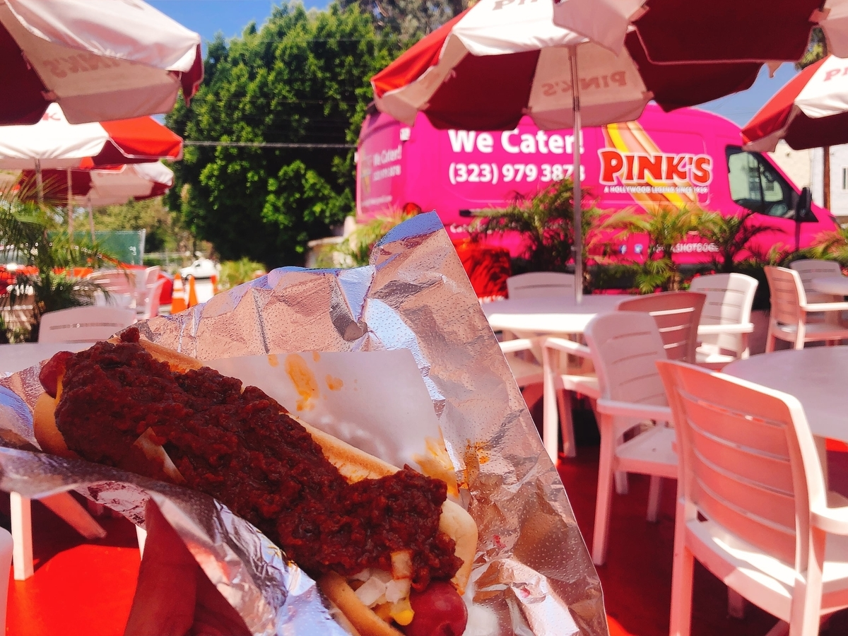 アメリカ ひとり旅 一人旅 女子 ロサンゼルス メルローズ サンタモニカ 古着 海 ビーチ ホットドック PINK'S