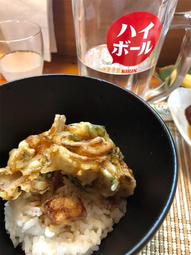 生姜と鳥肉のかき揚げ丼