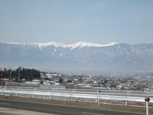 雪化粧した白峰三山