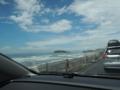 七里ヶ浜から見える江ノ島