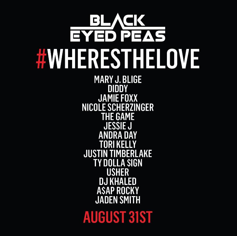 【歌詞和訳】Black Eyed Peas:ブラック・アイド・ピーズ - #WHERESTHELOVE  feat. The World