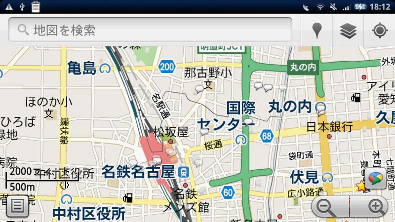 Google Buzz の地図表示