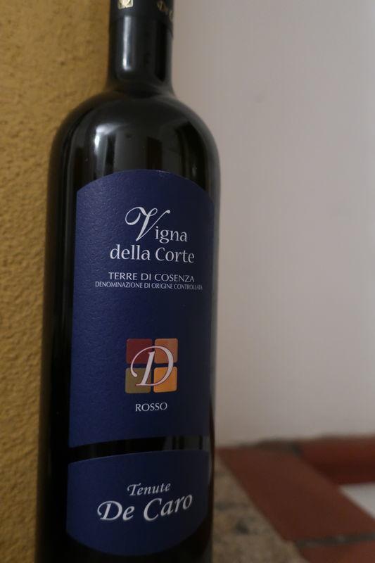 カラブリアの赤ワイン