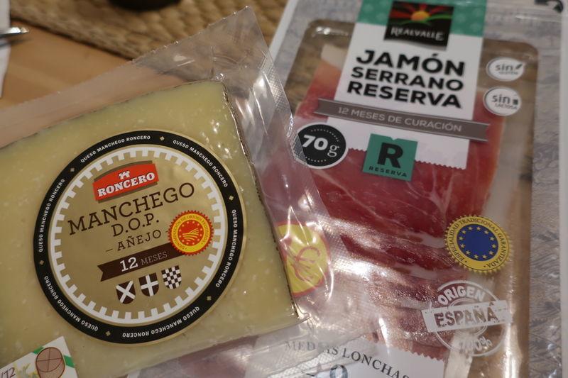 チーズと生ハム