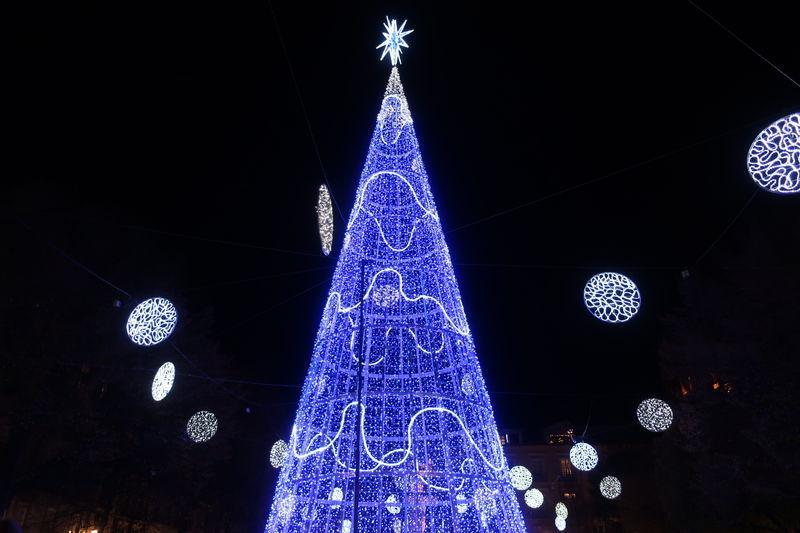 グラナダのクリスマスツリー