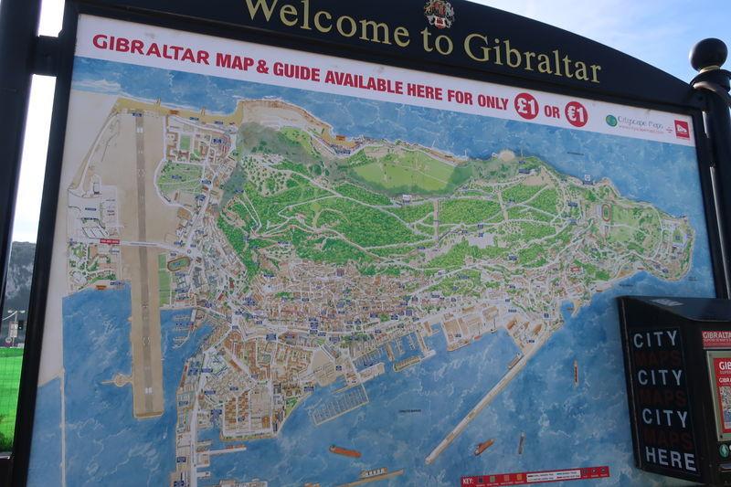 ジブラルタルの地図