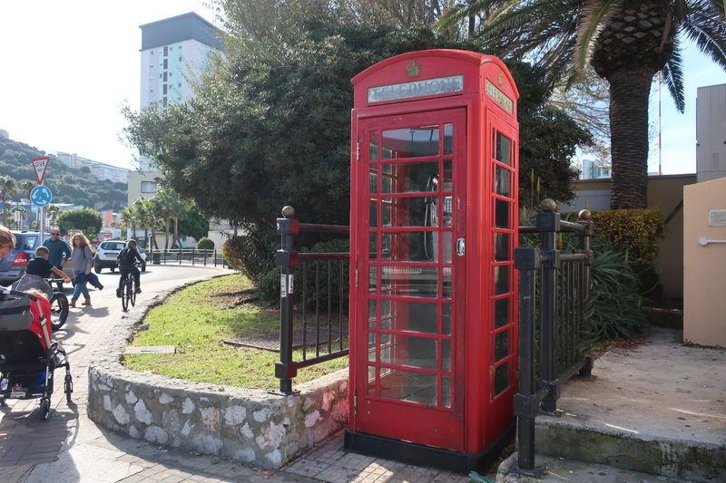 ジブラルタルの電話ボックス