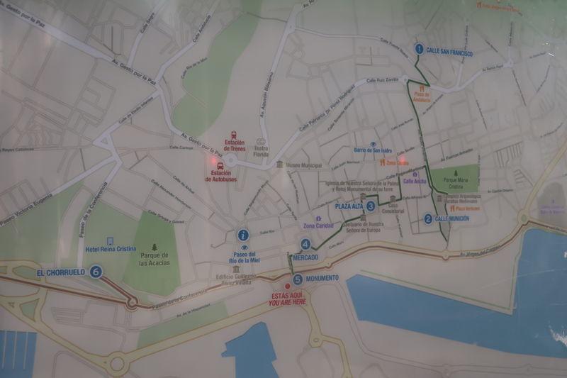 アルヘシラス観光マップ