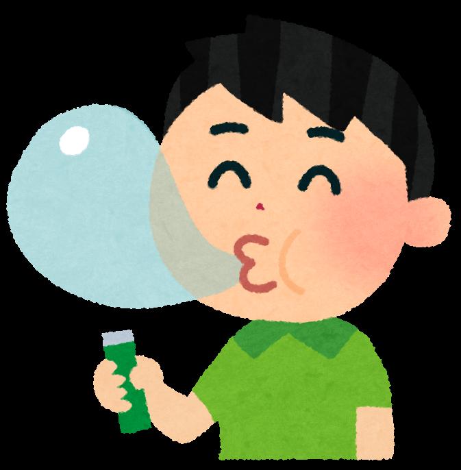 ガムを噛む男性の画像