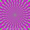 動いて見える静止画。錯視である。