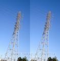 右の鉄塔の傾斜が強く見えるが、左右とも同一画像である。これも錯覚