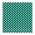 ジグザグ錯視。ジグザグの線が見えるが錯覚である。