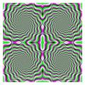 動いて見える錯視。実際は静止画である。
