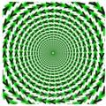 放射光錯視。放射状の光は実在しない。