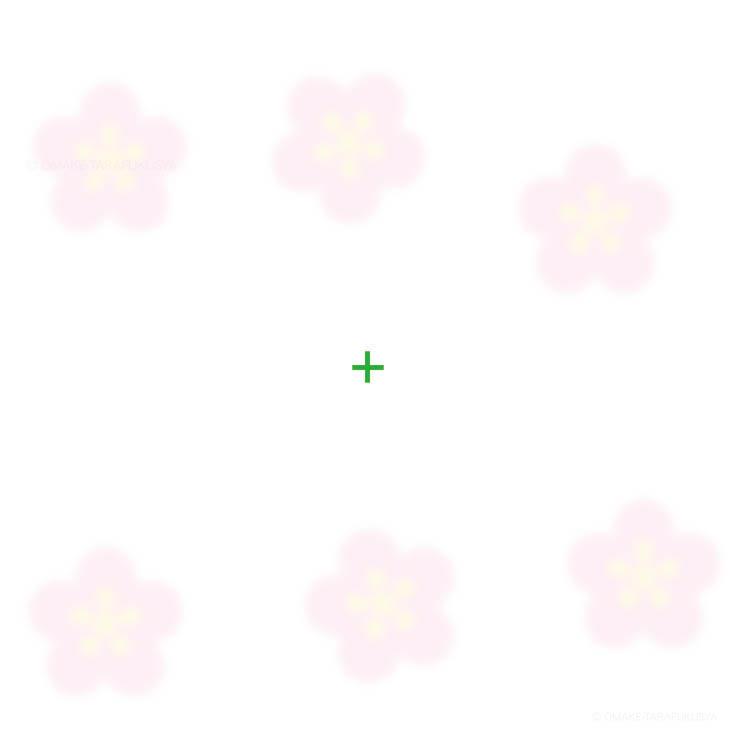 梅の花を消す錯視