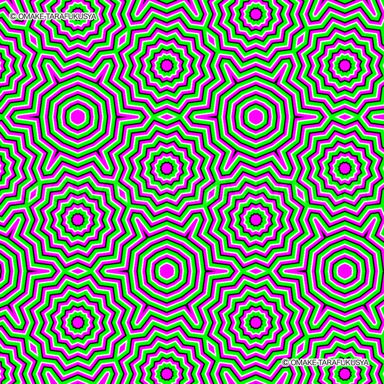 動いて見える静止画の錯視