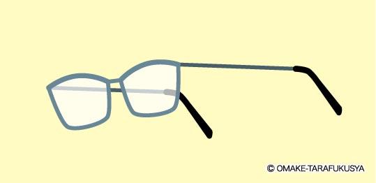 メガネを表から