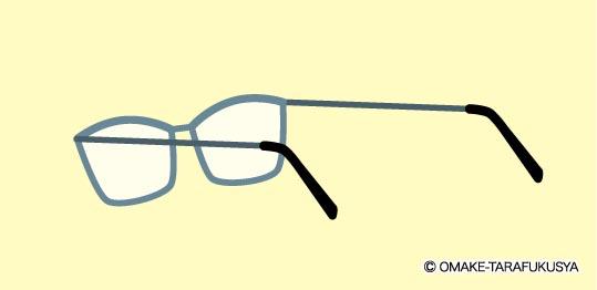 メガネを裏から